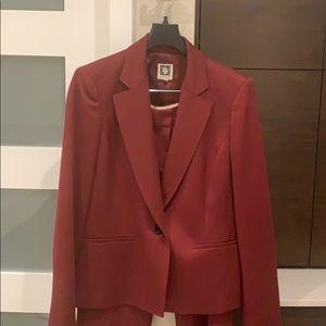 Ann Klein burgundy suit jacket